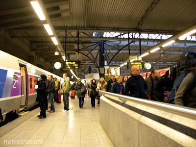 Brussel Midi駅に到着 タリスホーム
