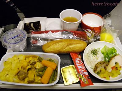Air France メインの食事