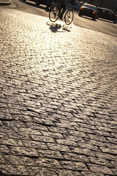 夕方の石畳