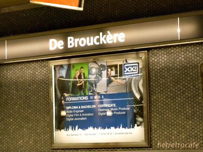 メトロ De Brouckere駅