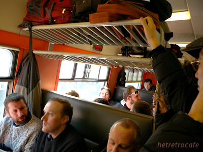 Binche行きの列車車内