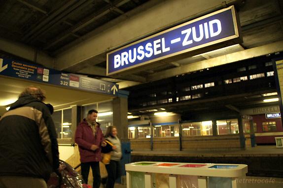 ブリュッセル南駅に着きました