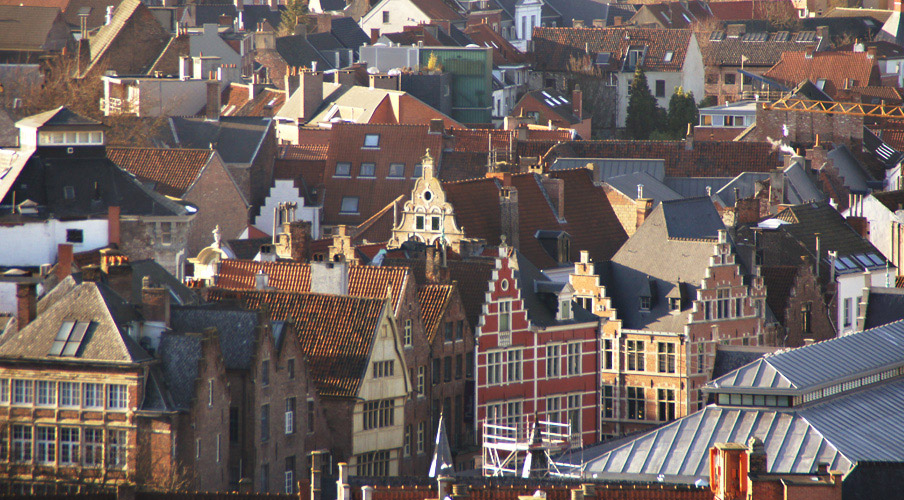 The view of Ghent from the Belfort