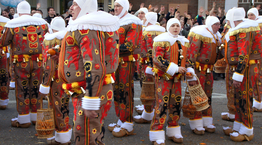 The Gilles of Carnaval de Binche in Belgium